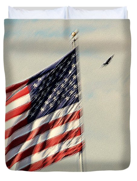 Happy Birthday America Duvet Cover by Susanne Van Hulst