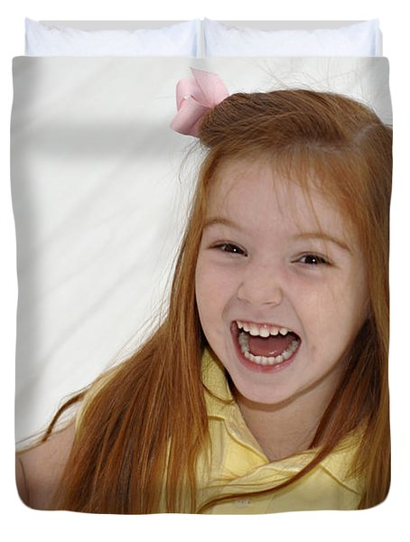 Happy Contest 6 Duvet Cover by Jill Reger