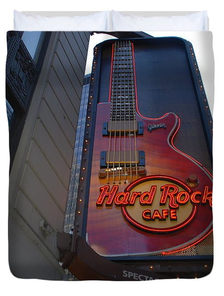 Hard Rock Cafe N Y C Duvet Cover by Rob Hans