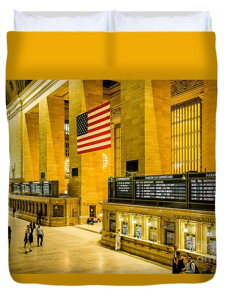 Duvet Cover featuring the photograph Grand Central Pride by M G Whittingham