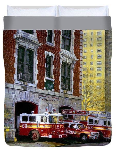 Harlem Hilton Duvet Cover by Paul Walsh