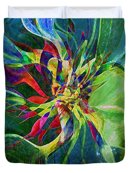 Harlequin Poinsettia Duvet Cover by RC DeWinter