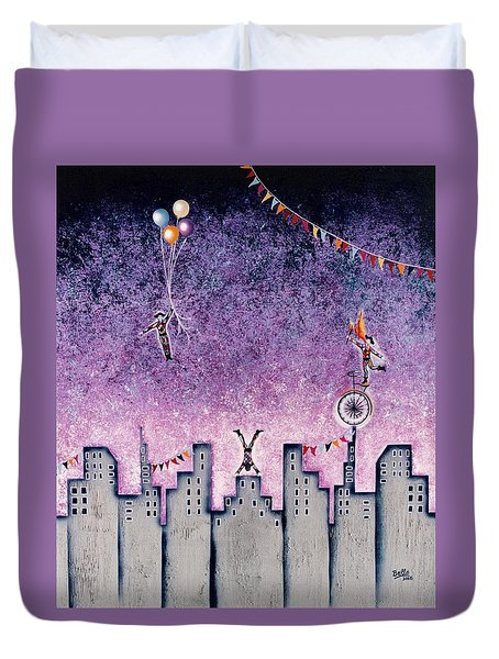 Harlequins Festival Duvet Cover by Graciela Bello
