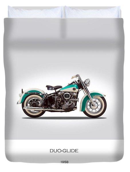 Harley-davidson Duo-glide Duvet Cover by Mark Rogan