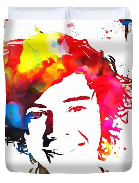 Harry Styles Paint Splatter Duvet Cover by Dan Sproul