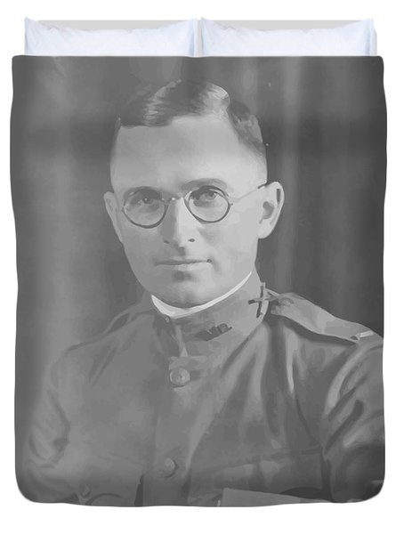Harry Truman During World War One Duvet Cover by War Is Hell Store