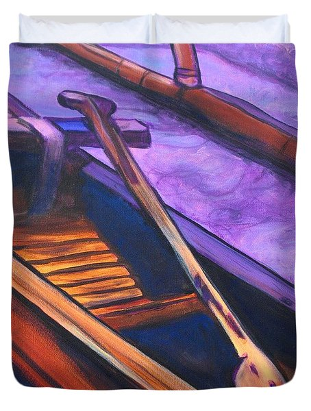 Hawaiian Canoe Duvet Cover by Marionette Taboniar
