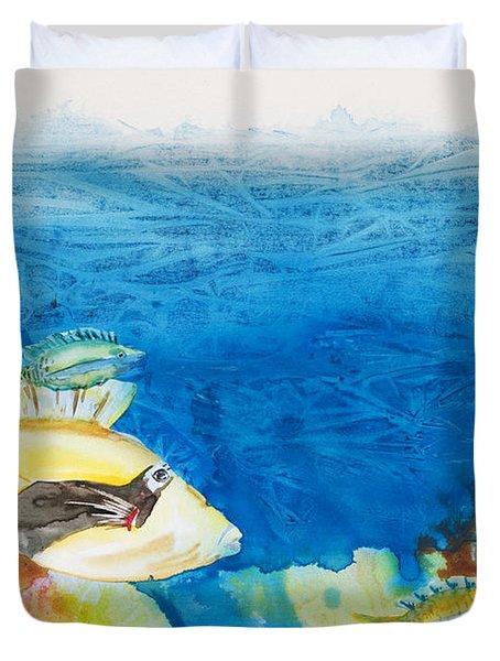 Hawaiian Triggerfish Duvet Cover by Tanya L Haynes - Printscapes