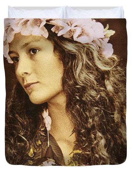 Hawaiian Wahine Duvet Cover by Himani - Printscapes