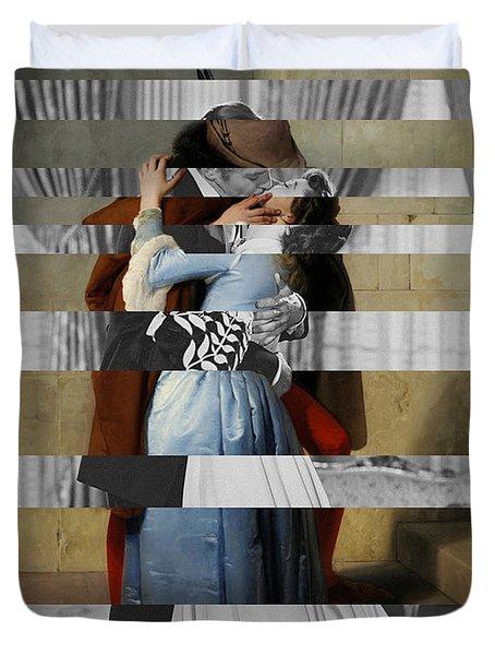Hayes's The Kiss And Vivien Leigh With Clark Gable Duvet Cover by Luigi Tarini