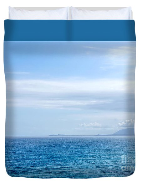 Hazy Ocean View Duvet Cover by Kaye Menner