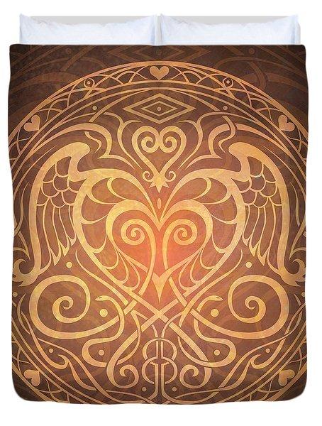 Heart Of Wisdom Mandala Duvet Cover by Cristina McAllister