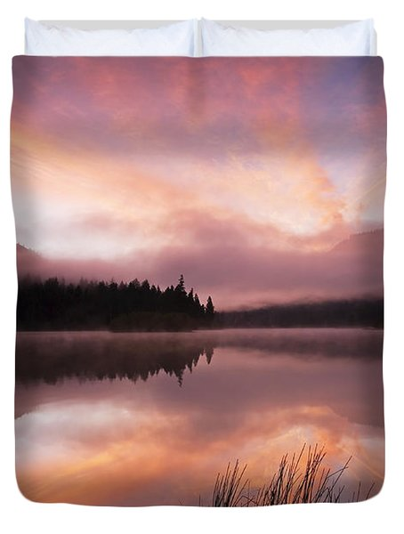 Heavenly Skies Duvet Cover by Mike  Dawson