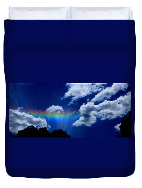 Heavens Rainbow Duvet Cover by Linda Sannuti