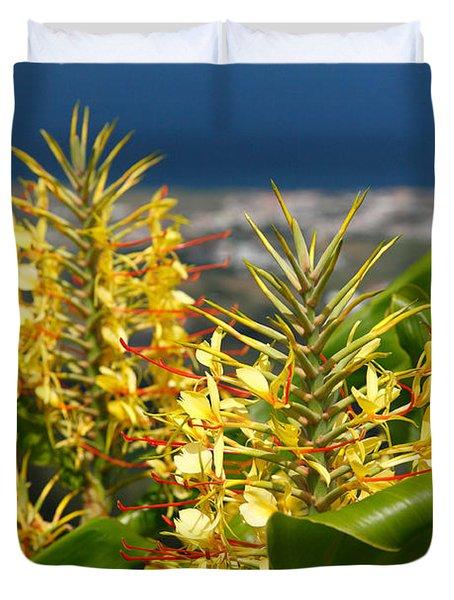 Hedychium Gardnerianum Duvet Cover by Gaspar Avila