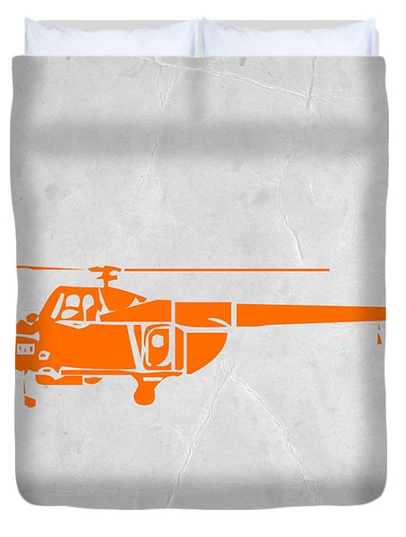 Helicopter Duvet Cover by Naxart Studio