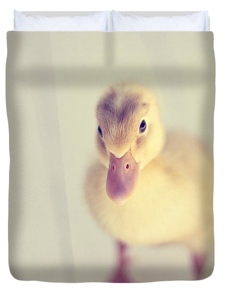 Hello Ducky Duvet Cover by Amy Tyler