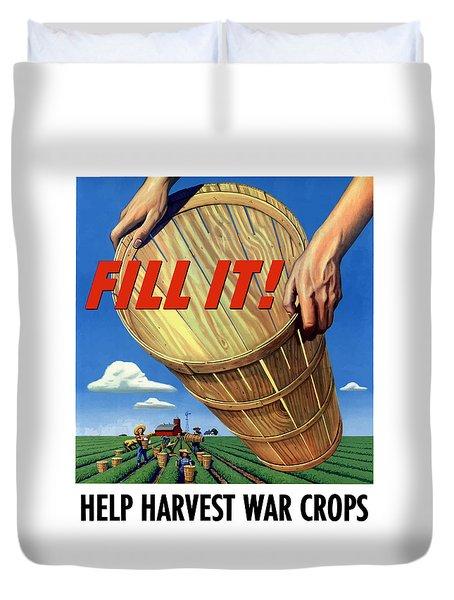 Help Harvest War Crops Duvet Cover by War Is Hell Store