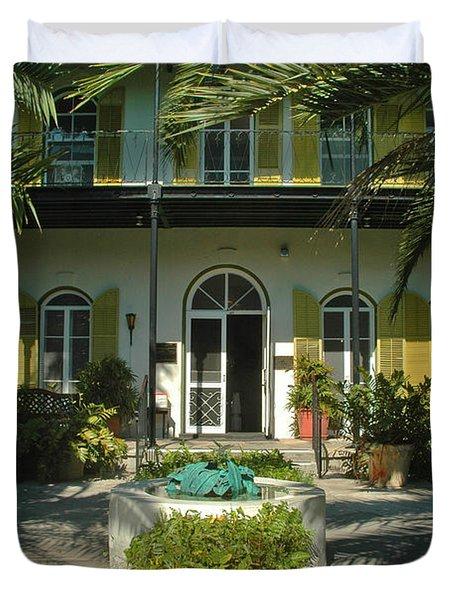 Hemingways House Key West Duvet Cover by Susanne Van Hulst