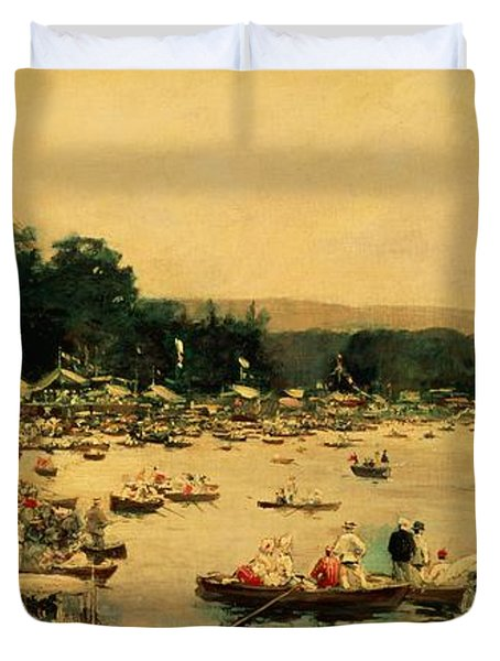 Henley Regatta Duvet Cover by James Jacques Joseph Tissot