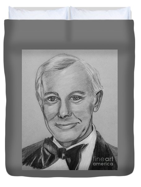 Here's Johnny Duvet Cover by Sharon Ackley