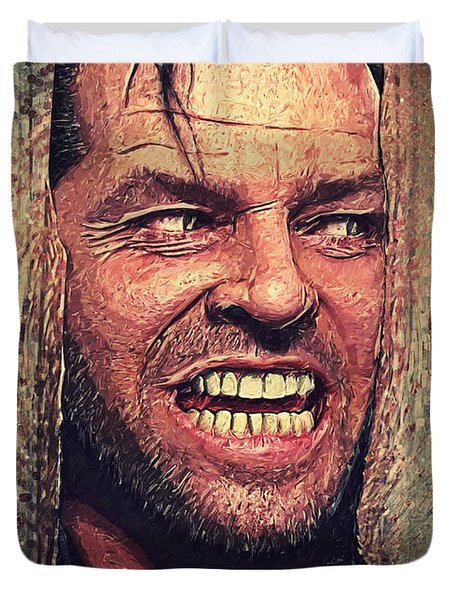 Here's Johnny - The Shining  Duvet Cover by Taylan Soyturk