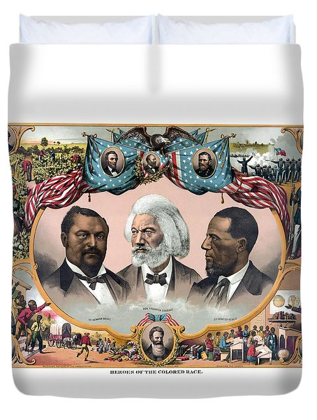 Heroes Of The Colored Race  Duvet Cover by War Is Hell Store