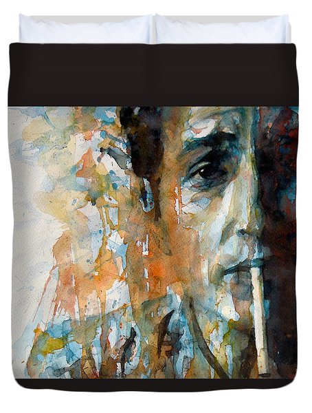 Hey Mr Tambourine Man @ Full Composition Duvet Cover by Paul Lovering