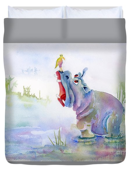 Hey Whats The Big Idea Duvet Cover by Amy Kirkpatrick