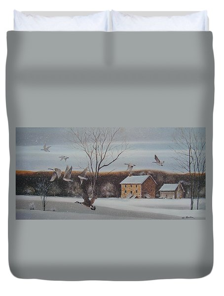 Hezakiah Alexander House Duvet Cover by Charles Roy Smith