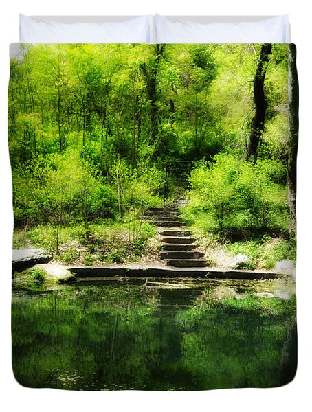 Hidden Pond At Schuylkill Valley Nature Center Duvet Cover by Bill Cannon