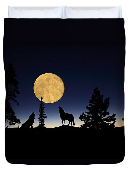 Hidden Wolves Duvet Cover by Shane Bechler