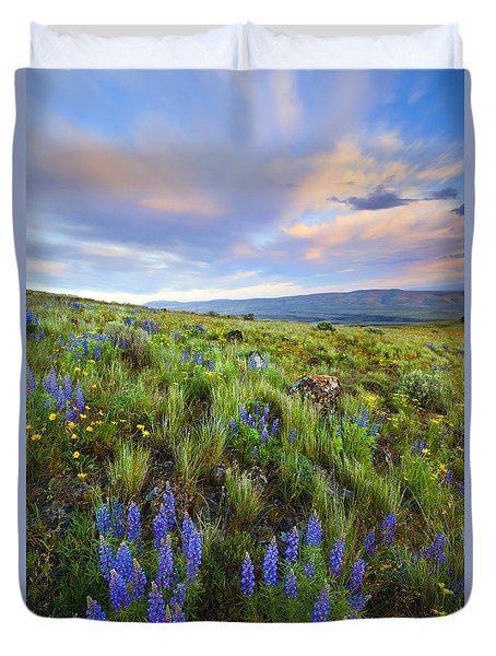 High Desert Spring Duvet Cover by Mike  Dawson