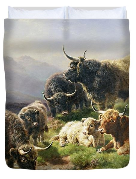 Highland Cattle Duvet Cover by William Watson