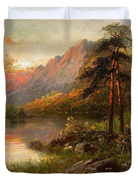 Highland Solitude Duvet Cover by Frank Hider