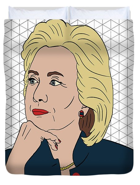 Hillary Clinton I'm With Her Duvet Cover by Nicole Wilson