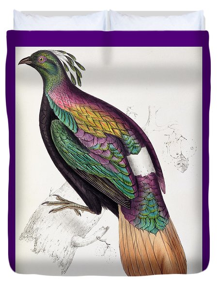 Himalayan Monal Pheasant Duvet Cover by John Gould
