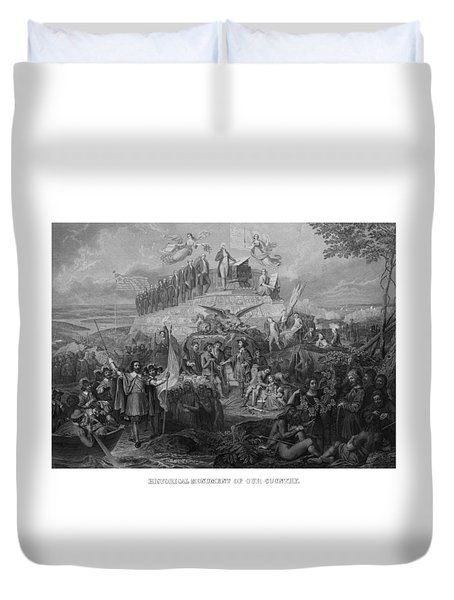 Historical Monument Of Our Country Duvet Cover by War Is Hell Store