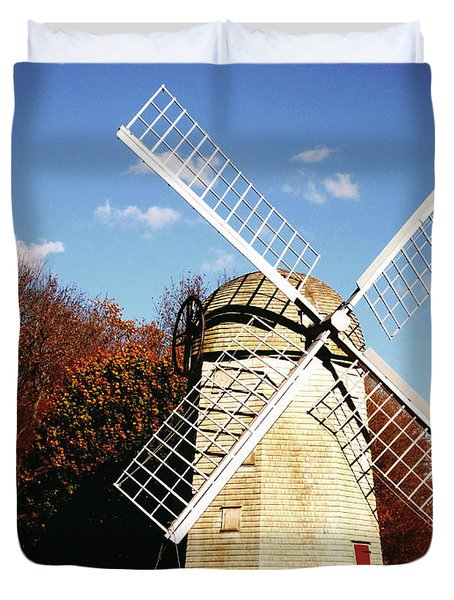 Historical Windmill Duvet Cover by Lourry Legarde