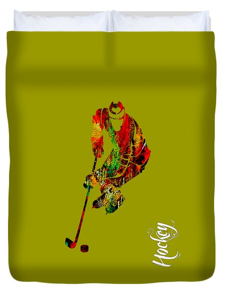 Hockey Collection Duvet Cover by Marvin Blaine