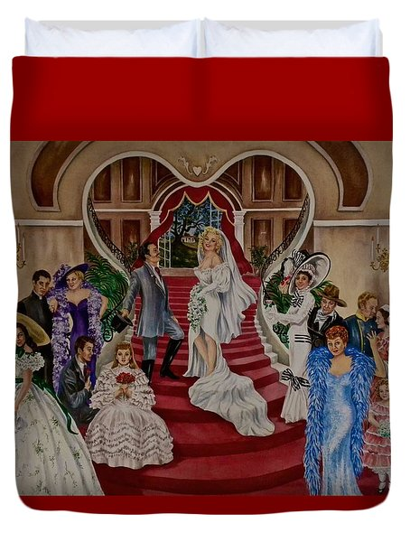Hollywood Legends Duvet Cover by Jan Law