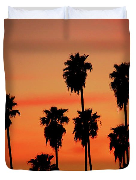 Hollywood Sunset Duvet Cover by Mariola Bitner