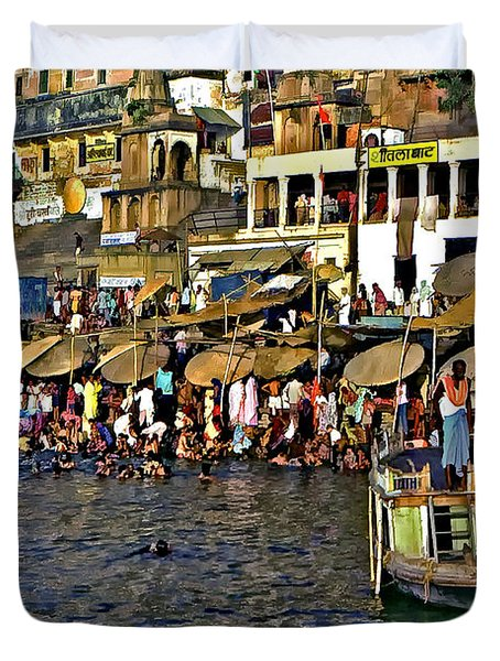 Holy Ganges Duvet Cover by Steve Harrington