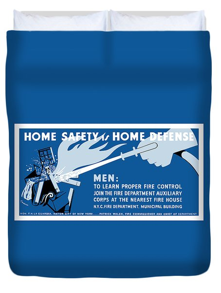 Home Safety Is Home Defense Duvet Cover by War Is Hell Store