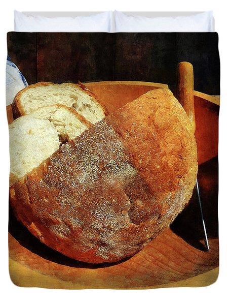 Homemade Bread Duvet Cover by Susan Savad