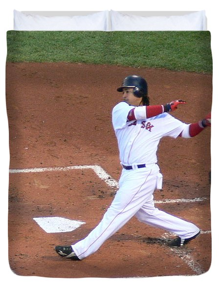 Homerun Swing Duvet Cover by Kevin Fortier