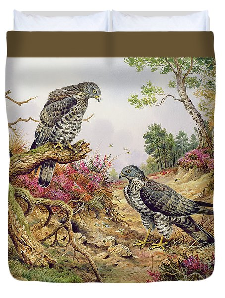 Honey Buzzards Duvet Cover by Carl Donner