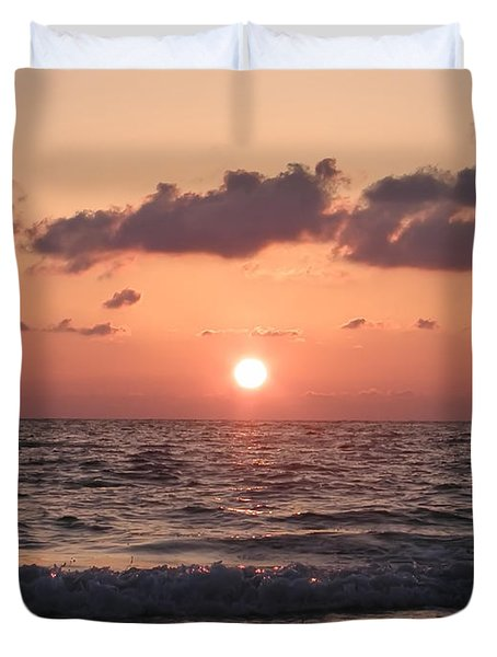 Honey Moon Island Sunset Duvet Cover by Bill Cannon