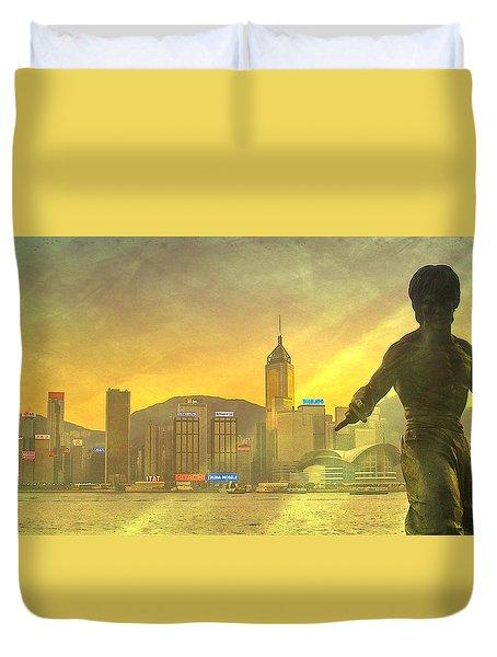 Hong Kong Lights Duvet Cover by Loriental Photography