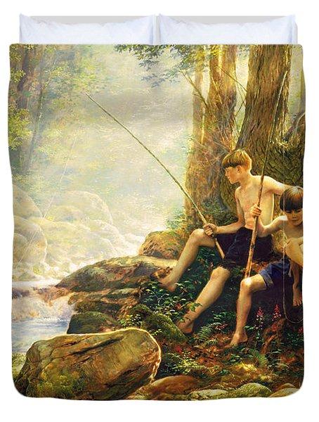 Hook Line and Summer Duvet Cover by Greg Olsen